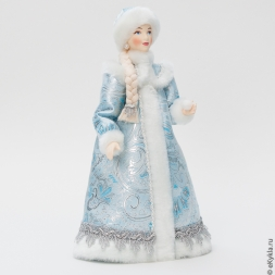 Doll Snow Maiden with a snowball 29cm