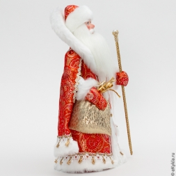 Doll Santa Claus from Veliky Ustyug red /gold 33cm