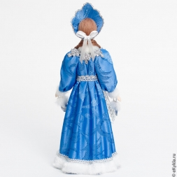 Doll Snow Maiden with mittens in silver 30cm.
