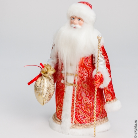 Doll Santa Claus under the tree red gold 30cm