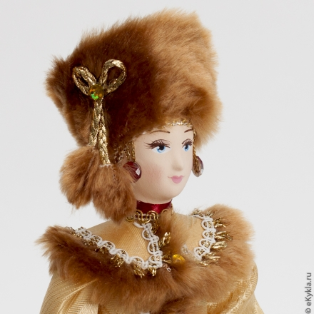 Doll Girl in a red winter suit 30 cm